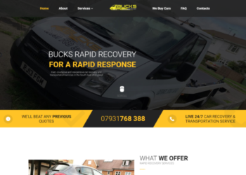 Bucks Rapid Recovery – Web Design