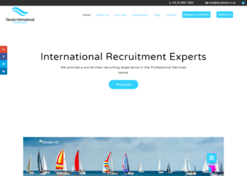 Elevate International – Web Design