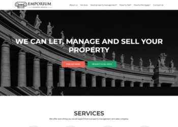 Emporium Property Services – Web Design