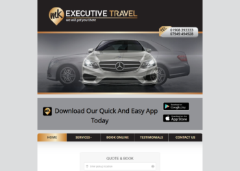 MK Executive Travel – Web Design