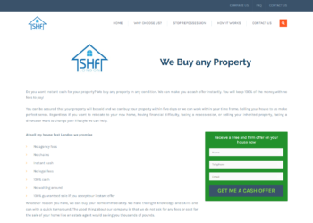 Sell My House Fast London – Web Design