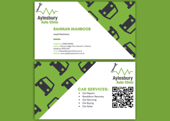 Aylesbury Auto Clinic – Business Card Design
