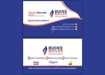 Bucks Boiler Installs Business Card Design