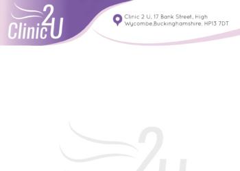 Clinic 2 U Letterhead Design