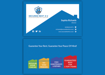 Secured Rent 4 U – Business Card Design