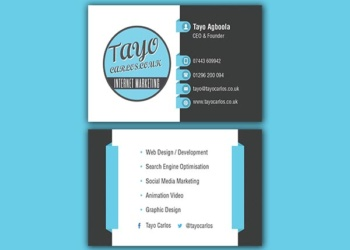 Tayo Carlos – Business Card Design