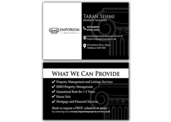 Emporium Property – Business Card Design