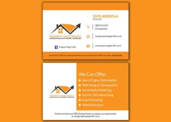 Property Page Traffic – Business Card Design